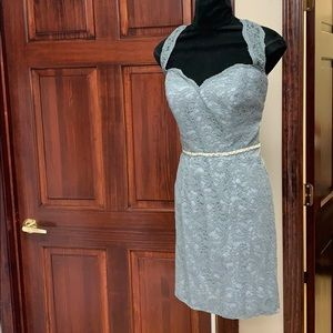 Dresses & Skirts - Short grey lace gown